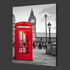 PHONE BOOTH BIG BEN LONDON MODERN CANVAS PICTURE PRINT WALL ART READY TO HANG