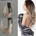 100% real soft Remy Human Hair Extensions Curly Seamless Tape In  20pcs/50g