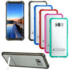 Slim Transparent TPU Silicon Stand Back Cover Case For Samsung Galaxy S8/S8 Plus