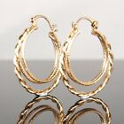 "SALE 9ct 9K Rose Gold "" Gold Filled "" Prom Ladies 23 41 mm Hoop Earring E1680"