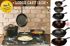 """Cast Iron 3.5""""-15"""" ,Hot Handle Cookware Skillet Grill Fry Pan Non Stick Made USA"""