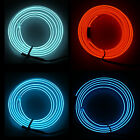 1m 2m 3m Car Neon LED Strip Lights 12V Waterproof Flexible + Adapter