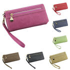 Women PU Leather Card Holder Long Clutch Zip Wallet  Phone Case Handbag Purse