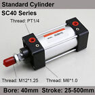 SC40*25/50/75/100 Standard Air Pneumatic Cylinders 40mm Bore 25/50/75/100 Stroke