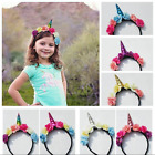 Lovely Unicorn Horn Head Party Kid Hair Hoop Headband Fancy Dress Cosplay Girls