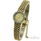 BUECHE GIROD LADIES 9CT GOLD & DIAMOND MECHANICAL WRISTWATCH DATED CIRCA 1978