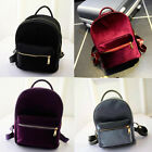 Women Velvet Girls BookBags Small Travel Handbag Shoulder Bag.accs
