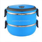 US Stock Picnic Lunch Box Portable Thermal Insulation Stainless Steel Containers