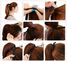 Head Band Wrap Clip On Ponytail Hair Extension Pony Tail Straight Hair Pcs.om