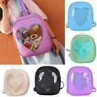 Cute Style Women Transparent Heart Shaped Backpack Travel Hiking Bags New - SUN