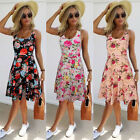 Women Summer Sleeveless Floral Evening Party Cocktail Beach Short Mini Dress Hot