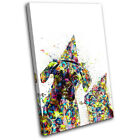 Dog Cat Colourful Abstract Animals SINGLE CANVAS WALL ART Picture Print