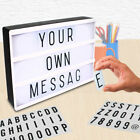 Message Board Lightbox Sign A4 Love Cinematic Cinema Light Up Letter Box Party