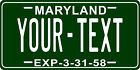 Maryland 1958 License Plate Personalized Custom Car Bike Motorcycle Moped Tag