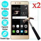 2x Tempered Glass Screen Protector Film {2Pcs} For Huawei P9 P9 Lite 2017