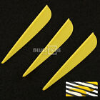 50 x Drop Shape Arrow Fletching Arrow Vane for Fiberglass Arrow Carbon Arrows 3""