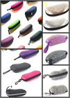C22 Color Zipper Carry Case For Sunglasses/Shell PVC Hard Box/Carabiner Designed