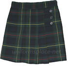 Внешний вид - Girl Plaid Skort PLeated Front Skort Skirt/Short Green Plaid School Uniforms
