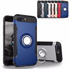For iPhone 7 Plus Ring Case Luxury Ultra Thin Hybrid Protective Hard Soft Cover