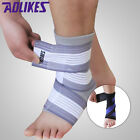 New Ankle Foot Elastic Compression Wrap Sleeve Bandage Brace Support Protection