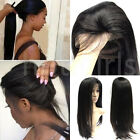 Black Long Straight Lace Front Wig 100% Remy Human Hair Full Lace Wigs 360 lgh6