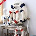 Welcome Aboard Nautical Life Ring Lifebuoy Boat Wall Hanging Home Decoration New