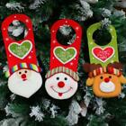 Christmas Door Knob Hanging Ornaments Home Office Decor Santa Snowman Reindeer S