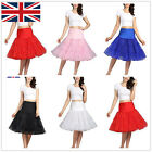 "26"" Retro Lady Underskirt Womens Swing Petticoat Rockabilly Tutu Dress Skirt UK"