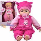 """18"""" New Born Soft Body Baby Doll Toy with Dummy Baby Sounds Crying Talking Gift"""