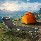 x2 Outdoor Patio Beach Chaise Lounge Chair Zero Gravity Fold Recliner Lay Flat  cheap