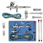 Dual Action Gravity Feed Airbrush Gun 0.2/0.3/0.4/0.5mm Art Paint Tattoo Kits US