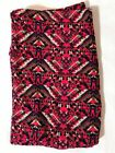 LuLaRoe Leggings NWT One Size OS Red Blue Geometric Paisley