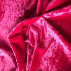 HEAVY Crushed Velvet CERISE Fabric Curtain Upholstery Cushions Blinds col-