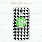 Personalized Black houndstooth monogram custom case for Samsung Galaxy S8 -001