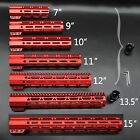 Red 7/9/10/11/12/13.5/15 inch Clamp Style M-lok Handguard Rail Free Float System
