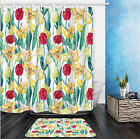 Printed Bathroom Shower Curtain Set Waterproof Stylish Design With Hooks 2017