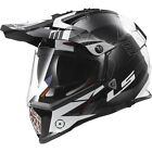 LS2 MX436 Pioneer Adventure ECE Motorcycle Helmets - Trigger Black/White - New!!