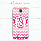 Personalized Pink Chevron Name, Initials monogram Case for Samsung Galaxy -mn907