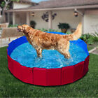 Home Outdoor Folding Pet Pool Swimming Cat Dog Cooling Portable Tough 2 Sizes