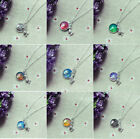 11Colors Cabochon Mermaid Necklace Pendants For Girls Jewelry Lovely DIY Gifts