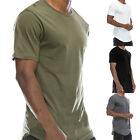 Men fashion casual Hip Hop slim T-shirt Stretchy short sleeve Round Neck shirt