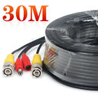 30/40/50M BNC Cable Video Power RCA Cord DVR CCTV Security Camera Extension Wire