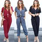 Fashion Summer Women Short Sleeve V-neck Playsuit Bodycon Rompers Straps Party