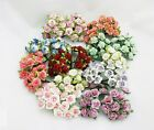 40*1.5 cm Tiny Roses Mulberry Paper Flower Craft Wedding Card