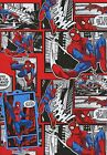 MARVEL COMICS SPIDERMAN 2 SHEETS OF GIFT WRAPPING PAPER &2 GIFT TAGS 1ST P&P