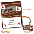VARIOUS PERSONALISED CHOCOLATE BAR WRAPPER fits Galaxy 114g Gift Idea Present