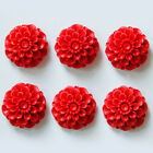 NEW 5pcs 15~34mm Flower Vermilion Carved Lacquerware Red Spacer Loose Beads