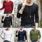 MEN'S T-shirts Casual Tee Shirt Tops Slim Fit Long Sleeve Pullovers Muscle new
