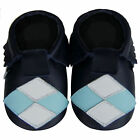 Free shipping Crib Prewalker Soft Sole Baby Leather Shoes Mocassi Navy 0-2 years