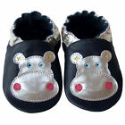 Free shipping Prewalker Infant Soft Sole Leather Baby Shoes Hippo Navy 0-5years